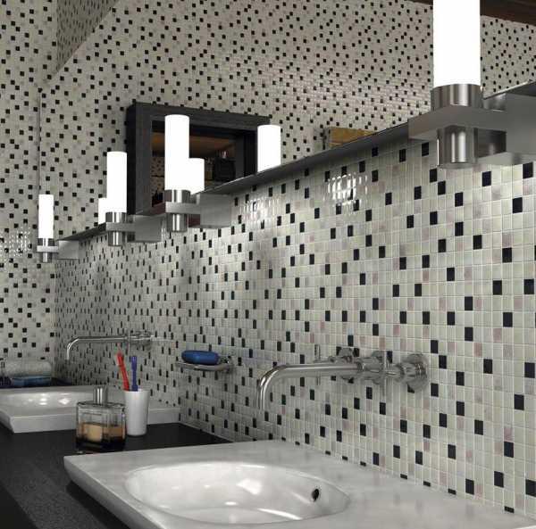Отделка ванной мозаичной плиткой